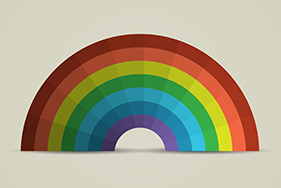 Paper Rainbow Stock Image