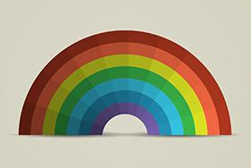 Paper Rainbow Stock Image