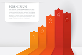 Infographic Chart Template. Vector Stock Image
